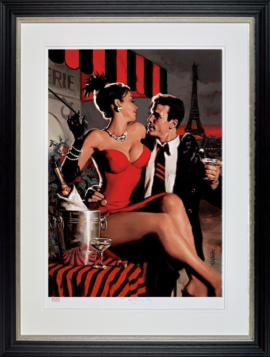 Midnight in Paris by Glen Orbik - Limited Edition on Paper sized 23x34 inches. Available from Whitewall Galleries